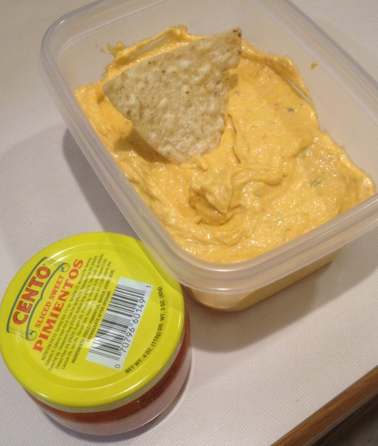 I recall Nana's pimento cheese as being redder (more pimentos) and chunked (less processing) than mine. Mine tastes pretty good, but when it comes to making pimento cheese, I am to Nana like a house painter is to Rembrandt.