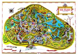 For my sister and I, a simple Six Flags park map provided hours of fascination and fun.