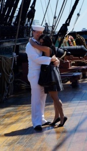 My son proposed to Jennifer aboard the USS Constitution, anchored in Boston Harbor. After they got married, the Navy moved them to the opposite coast.