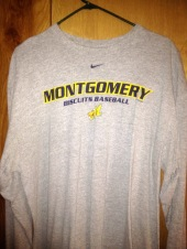 Sometimes it's necessary during winter to think about the upcoming baseball season, and my Montgomery Biscuits t-shirt is a real conversation starter.