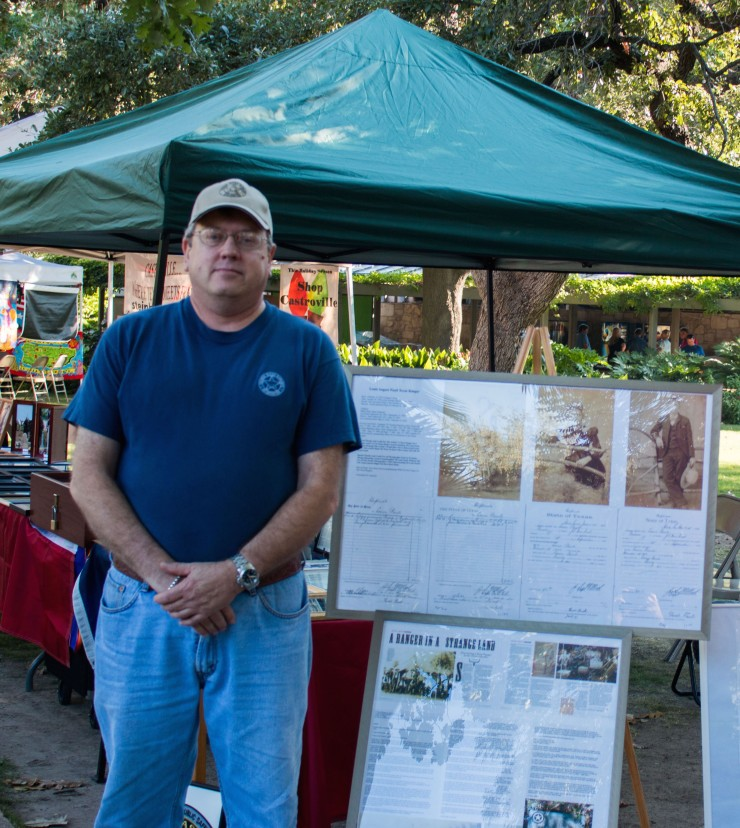 Christopher Lancaster and his display were part of San Antonio Founders Day. Many thanks to him for taking the time to research and honor my great-grandfather.