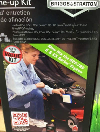 """""""I just love changing the air filter on my Briggs & Stratton lawnmower engine, and you will, too!"""""""
