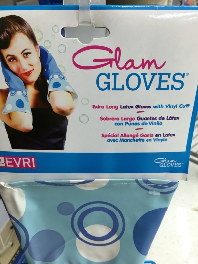 """You'll feel sexy while scrubbing the toilet in your new Glam Gloves!"""