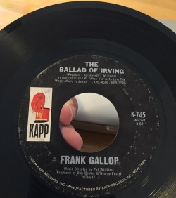 The Ballad of Irving. They just don't sing 'em like this anymore.
