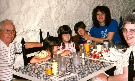 A family photo taken in 1988 at the Casa Rio restaurant in San Antonio, Texas. I love the family dynamics at play here, including Daddy's look of exasperation, while Mama's loving every minute. That's my wife, Mary, and three children, from left, Rebekah, Leah and Aaron.