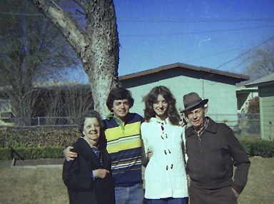 My wife and I, shortly after we were married, with my Nana and Pawpaw, who knew how to wear a hat and make a mighty fine horse.