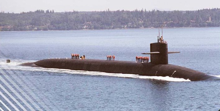The USS Nevada, SSBN 733, my son's boat.