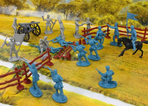 As a boy, I played with a Civil War set like this.
