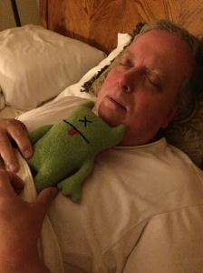 That's me with my feel-bad doll after contracting pneumonic plague from an unprotected Guangdong Gnome lure.