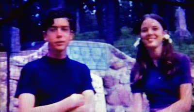 That's me with my sister when I was about 14. Although the schnook isn't in this image lifted from an 8mm movie, he was along on this trip, and had already been with our family for a couple of years.