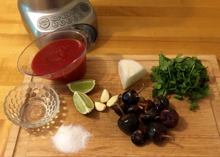 Artsy arrangement of ingredients, almost like the real food bloggers do.