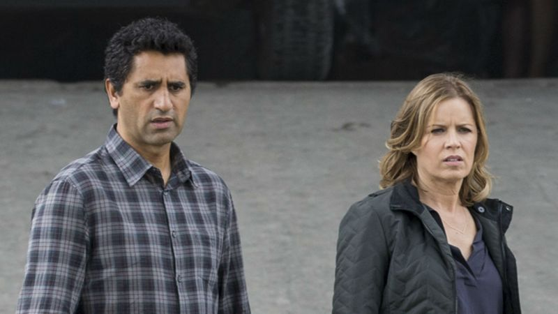 Actress Kim Dickens plays Maddie on AMC's Fear the Walking Dead. She's just one of the characters who's too calm by far for my liking.