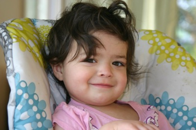 My youngest granddaughter lives far from me. Isn't she cute?