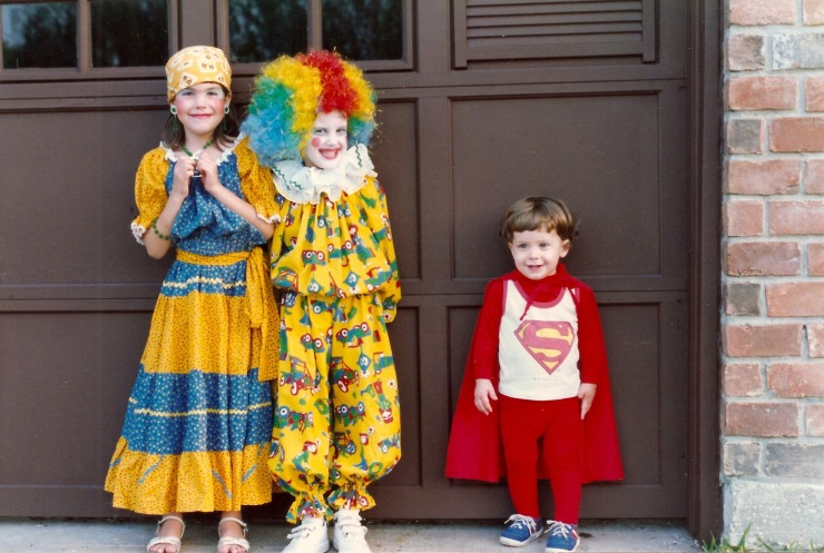 My three children, Leah, Rebekah and Aaron, in their Halloween finery. All three are now grown with children of their own.
