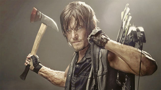 My cousin Norman Reedus plays Daryl Dixon on AMC's The Walking Dead. Jordan's choice of a weapon closely mirrors that of his hero.