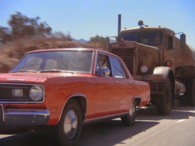 Dennis Weaver had a hot one on his tail in Duel.
