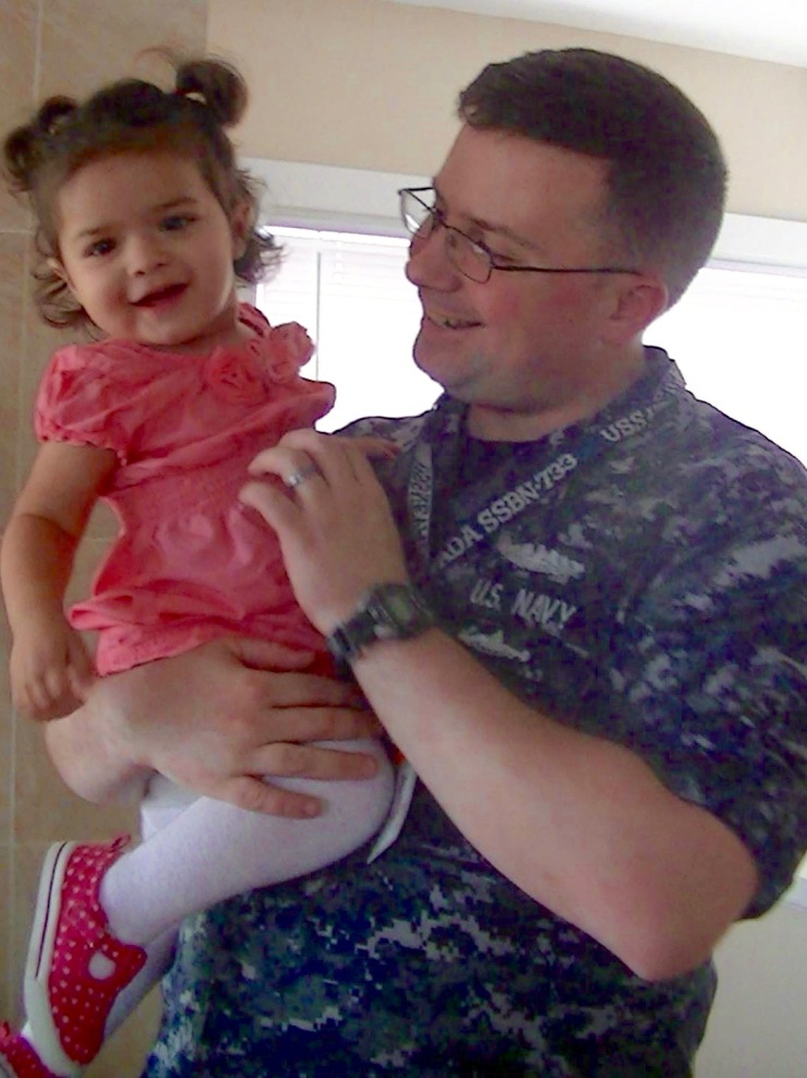 Aaron and Zoe get reacquainted after Aaron returned home from his most recent deployment.