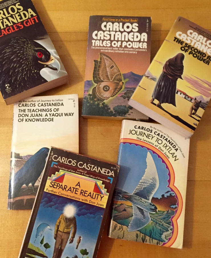 They're just cheap paperbacks, but I've probably owned these books longer than any others, first reading them when I was in high school. Say what you want about Carlos Castaneda's scholarship, the man could turn a phrase.