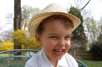 Evan has the infectious smile and flashing, fun-loving eyes.