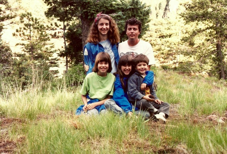 The whole family, together during a family vacation to Colorado in the 1980s.