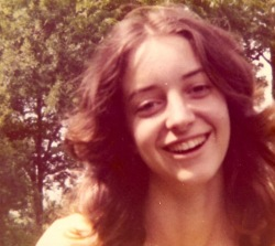 Mary as I first knew her. We met at a shuttle bus stop on the campus of The University of Texas at Austin.