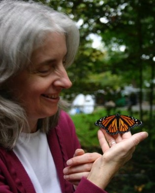 Mary loves nature, and for many years was involved with Monarch butterfly preservation efforts. She raised this butterfly from a caterpillar.