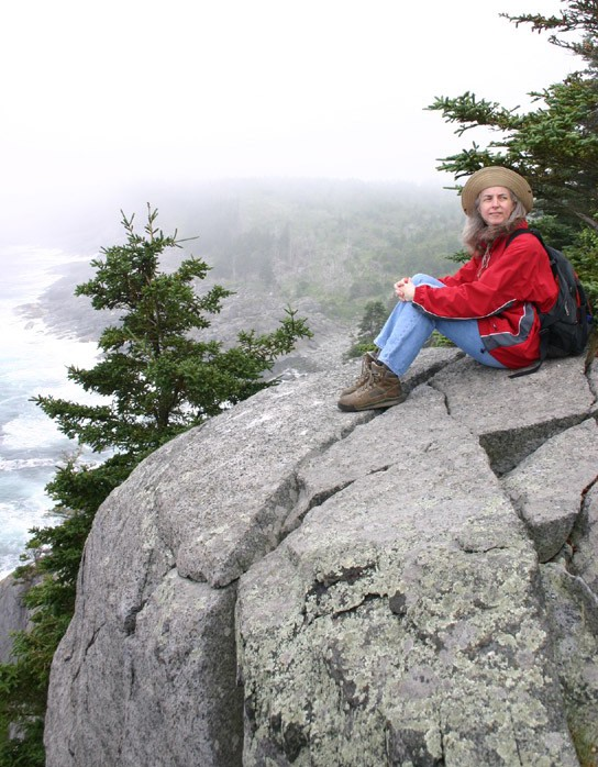 Mary loves the outdoors, and was in heaven a few years ago during our trip to Monhegan Island, off the coast of Maine.
