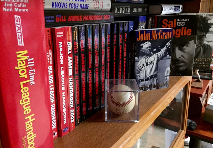 When I'm not chasing gnomes, you might find me chasing baseball statistics. This is just part of my extensive library.