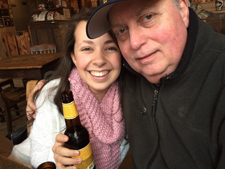 Buying her first (legal) beer seemed like the least a godfather could do for Tori.