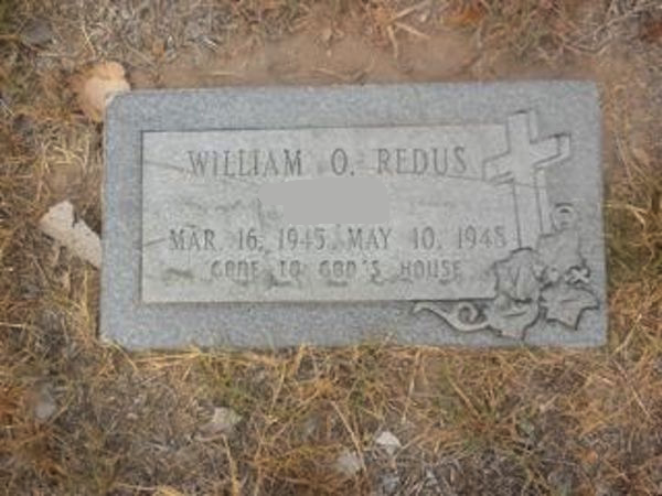 The photo of this gravestone was found online by my sister when she was doing some genealogical research. I've blotted out young William O's adoptive surname out of privacy concerns for that family.