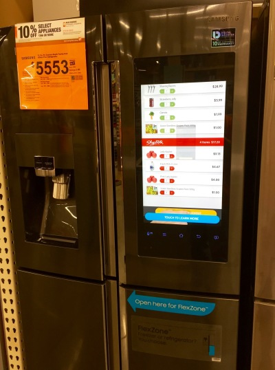 The fresh, clean look of a digital touchscreen makes refrigerator magnets and their clutter obsolete!