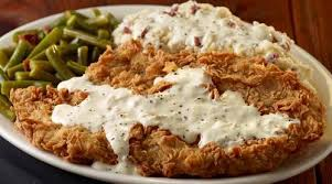 "Chicken-fried steak ala Texas. A New Jerseyan would ask, ""Why's it called CHICKEN fried?"""