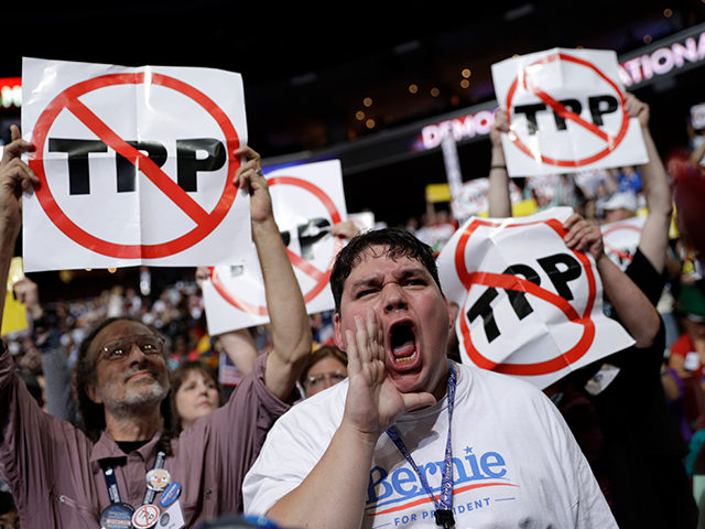 Loud-mouthed morons inside the Democratic National Convention.
