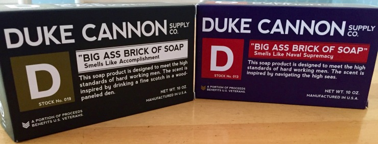 Duke Cannon makes a big-ass bar of soap, the kind of soap a man needs.