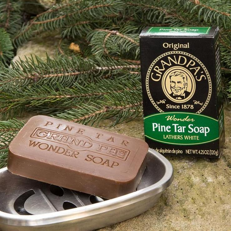 You'll smell cleaner than a freshly mopped barracks after hosing yourself down with Grandpa's Pine Tar Wonder Soap.